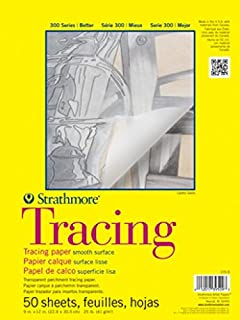 """Strathmore 300 Series Tracing Pad, 9""""x12"""" Tape Bound, ..."""