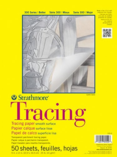 "Strathmore 370-9 300 Series Tracing Pad, 9""x12"" Tape Bound, 50 Sheets"