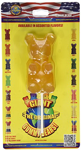 Giant Gummy Bear On A Stick Pineapple