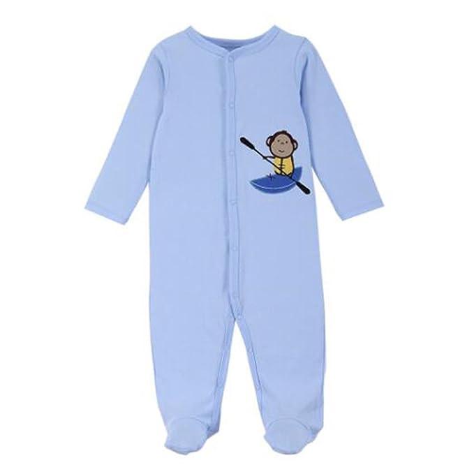 Hzjundasi Recién nacido Infantil Algodón Romper Monos Jumpsuit Bebés Footed Pijama Invierno Otoño Manga Larga Bodysuit