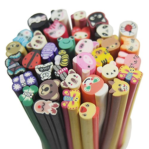 Bluemoona 100 PCS - Mixed Animal Fimo Polymer Clay Spacer strip