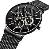 PASOY Men's Digital Gold Stainless Steel...