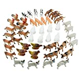 Boley Toy Farm Animal Figurine Playset - 48 Piece Small Miniature Plastic Farm Animal Set - for Children, Toddlers, and Kids - Perfect for Party Supplies and Stocking Stuffers!