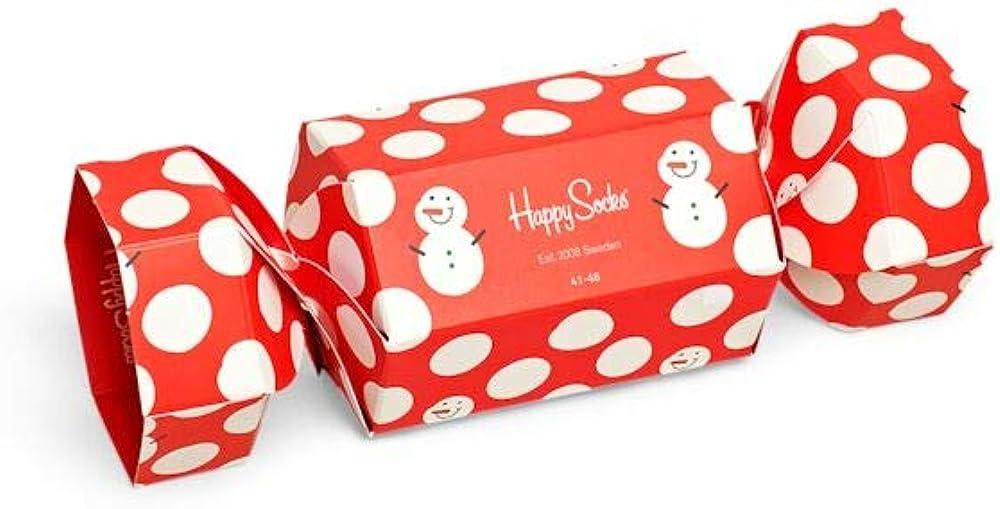 Happy Socks - Snowman Cracker Holiday - 1 paquete de regalo para hombre 41-46: Amazon.es: Ropa y accesorios
