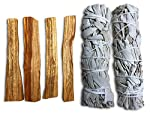 Smudge Kit - Sage, Palo Santo, Abalone Shell, Feather + More! Free Gift!3 Options by JL Local