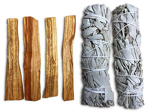 JL Local Smudge Kit - Sage, Palo Santo, Feather & More! Perfect for Smudging, Purifying, Healing & (Sage Holders)