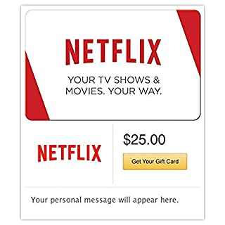 Netflix Gift Cards - E-mail Delivery (B00YD563L8) | Amazon price tracker / tracking, Amazon price history charts, Amazon price watches, Amazon price drop alerts