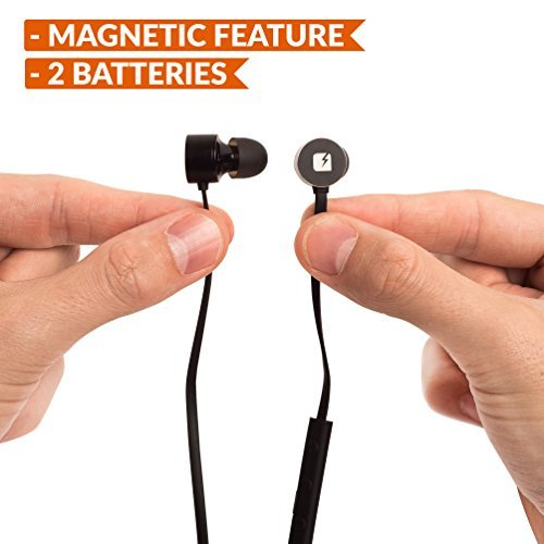 ION Wireless Earbuds With Magnets & 2 Batteries - In-Ear Mini Bluetooth Headphones With Microphone