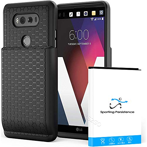 - New Sporting Persistence Spare Grade A+ 10900mAh Extended Battery Thicker Cover Full Edge Protection Case for LG V20 H910 H918 LS997 VS995 US996