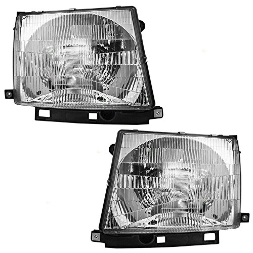Headlights Headlamps Driver and Passenger Replacements for Toyota Tacoma Pickup Truck 8115004090 - Toyota Headlight Replacement Tacoma