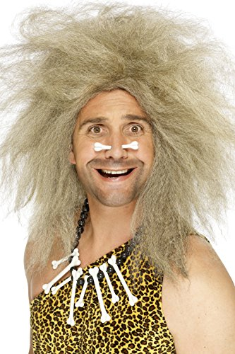Caveman Costumes Wig (Smiffy's Men's Crazy Caveman Blonde Wig, One Size, 5020570420805)