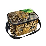 Leopard Pattern Print Insulated Lunch Bag Box Cooler Bag Reusable Tote Bag Outdoor Travel Picnic Bags