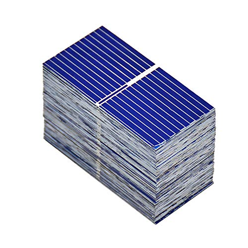 (AOSHIKE 100pcs 0.12W 0.5V 0.24A 39x19mm/1.53x0.75inch Micro Solar Cells for Solar Panels Polycrystalline Silicon Mini Solar Panel Solar Cell DIY Charger Battery )