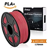 SUNLU 3D Printer Filament,PLA Plus Filament - 1.75 mm Red 1kg Spool (2.2 lbs) - Dimensional Accuracy +/- 0.02mm - 100% Virgin Raw Material
