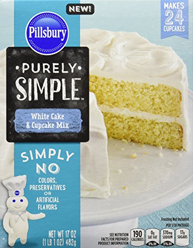 - Pillsbury Purely Simple White Cake and Cupcake Mix, 17 Ounce