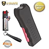 Personal Stun Gun Taser Flashlight Alarm Pepper Spray Keychain Self Defense Kit. Multi-Function Less Lethal Weapon Combo. Tactical Gear For Women Or Men While Walking , Camping Or Hiking (BLACK)