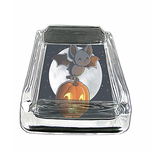 Halloween Bat Em1 Glass Ashtray Smoking/Coin Holder 4