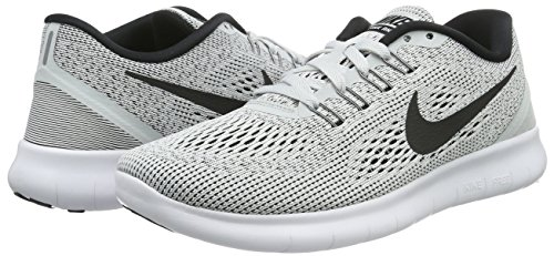 black Running pure 831509 white Free Donna Nike Run Bianco Platinum Scarpe wnpqZwI48