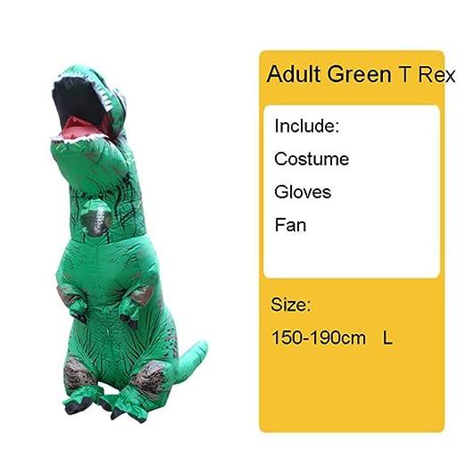 HYLH Disfraz de Dinosaurio Inflable para niños Adultos T Rex ...