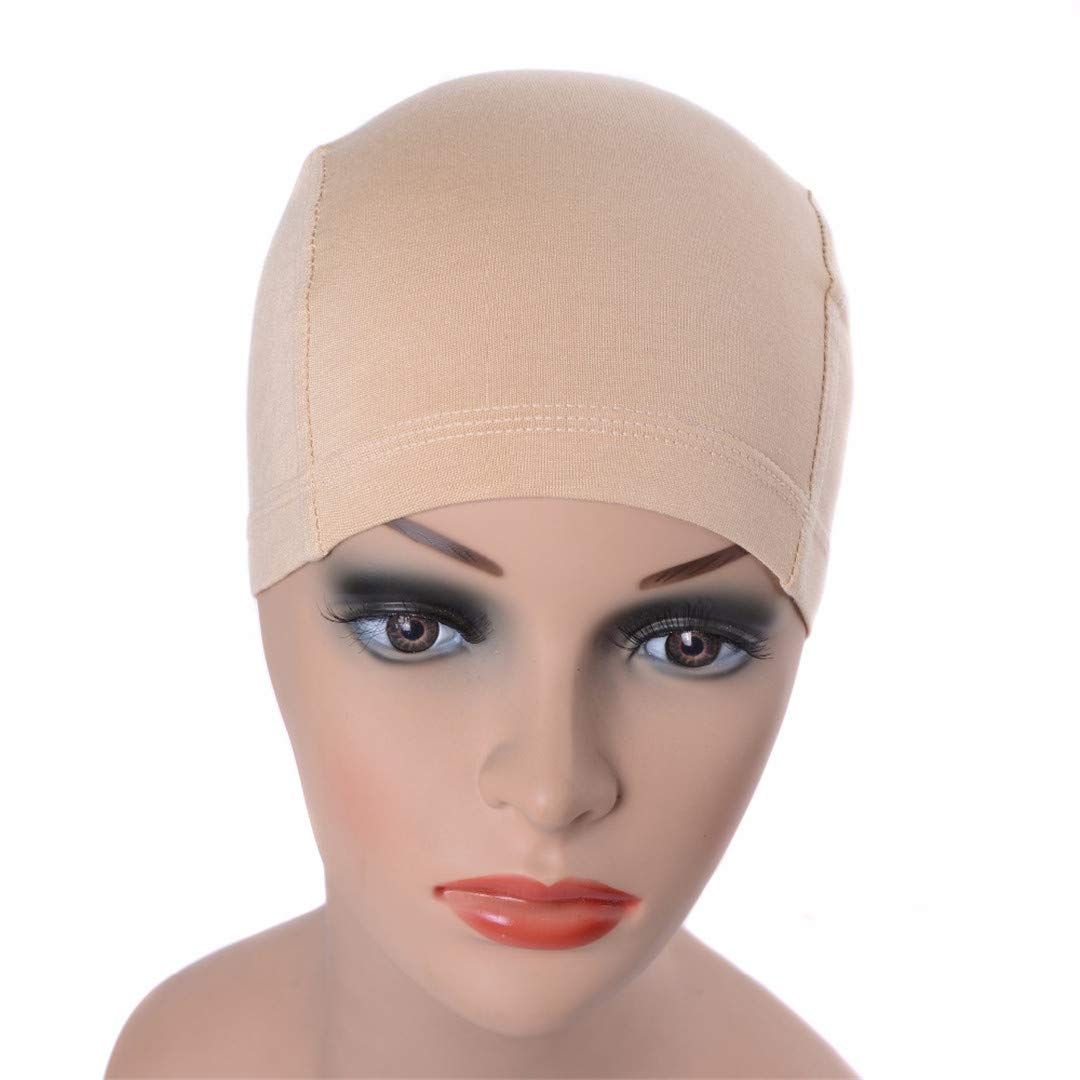 Anti-Bacterial Bamboo Fiber Wig Cap For Cancel Patients Comfortable And Elastic Caps Wearing Under Wigs Black by XJLAKJD