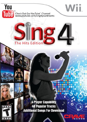 Wii Karaoke Microphone - Sing 4: The Hits Edition with Microphone - Nintendo Wii
