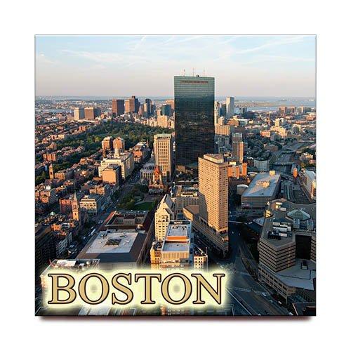Boston square fridge magnet Massachusetts travel ()