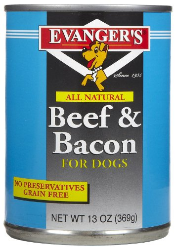 EVANGER'S 776486 12-Pack Natural Classic Beef and Bacon Supp