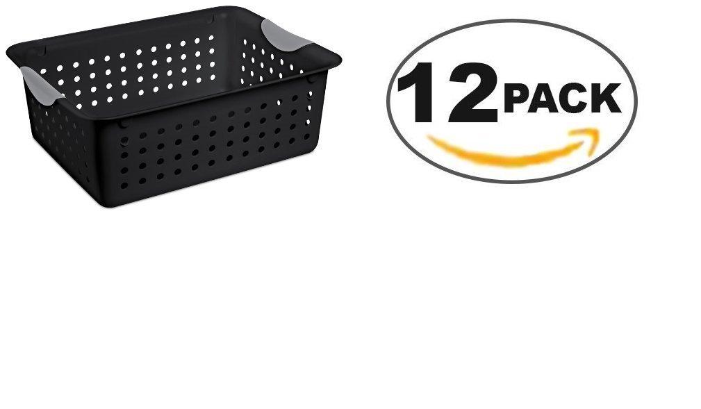 Sterilite 16249006 5 H X 10-3/4 W X 13-3/4 D Black Medium Ultra Basket