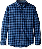 IZOD Men's Big and Tall Flannel Long Sleeve Shirt, Cobalt Blue, 2X-Large Slim