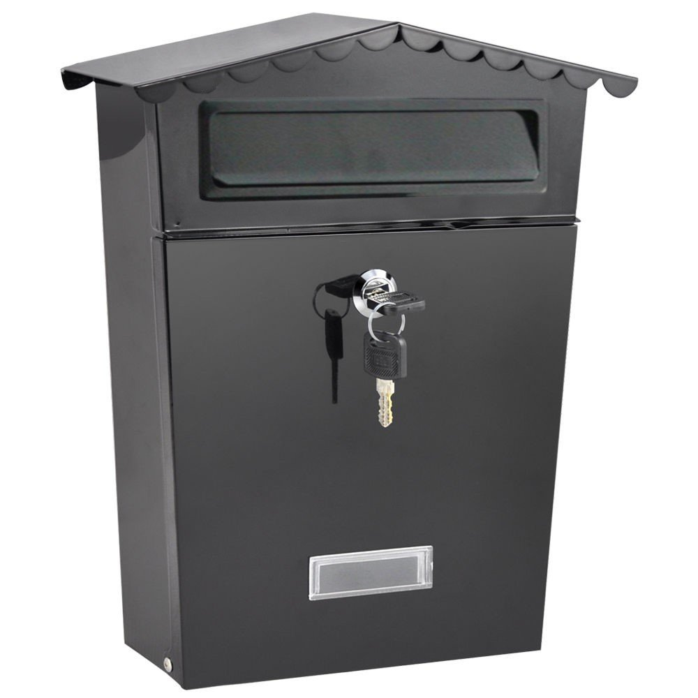 Traditional Postbox [by XFORT]. Letter Post-Box, Lockable Outdoor Mail Box, External Wall Mounted Letter Box Ideal for Keeping All Your Mail Safe and Secure [Small, White]. Maher London Ltd