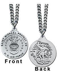 St Michael Us Air Force Service Pendant Necklace & Prayer Card