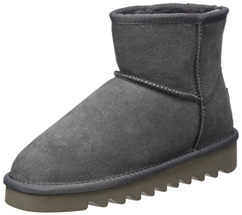 Colours of California Damen Stivale in Camoscio Schneestiefel Grau (Stone Sto)