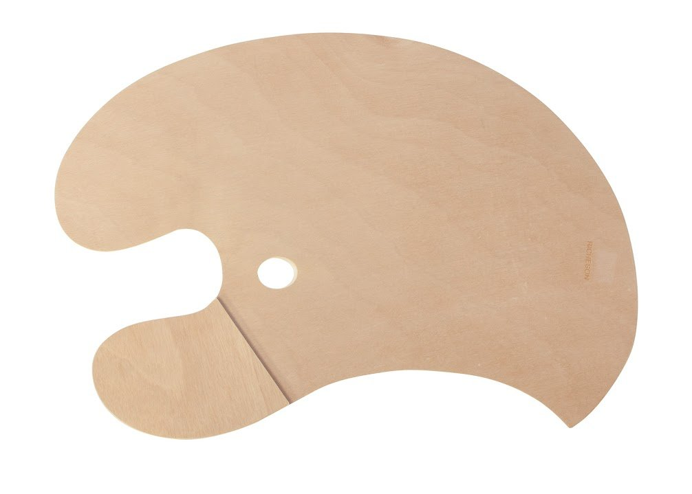 Jack Richeson 696023 Wooden Armed Palette with Right Hand Grip For Left Handed Painter by Jack Richeson