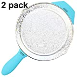 2 PCS MIX PACK Silicone Assist Hot Handle Pot Holder for Cast Iron Skillet ( Turquoise )