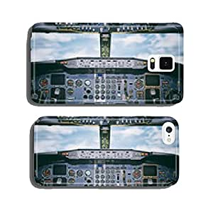 Aircraft dashboard. View inside the pilot's cabin. cell phone cover case Samsung S6