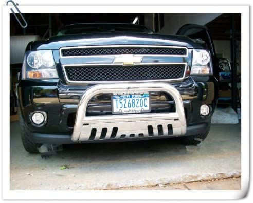 U-drive 3 inch Stainless Steel Bull Bar Front Bumper Grill Guard only fit for 2007-2013 Chevy Silverado//GMC Sierra 1500 New Body Style Model