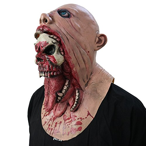 Halloween Scary Bloody Zombie Mask Toy, Walking Dead Melting Face | Adult Latex Costume (full head, as show) (Great Easter Gifts For Tweens)