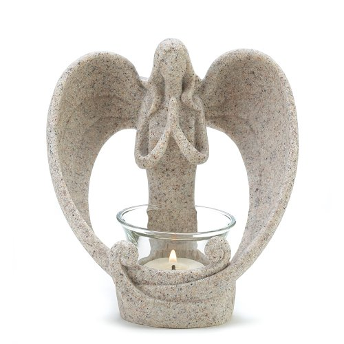 Religious Candle Holder (Gifts & Decor Desert Angel Tea Light Candleholder Decorative Gift)