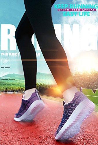 Bianco Sottile Running Sneaker Nero Da Grigio Maglia Allacciare Sports Scarpe 1 Fitness Donna Blu Verde Ginnastica scegli modello 44 Dimensioni Blu 35 xCnX7U