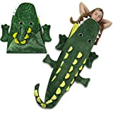 Cozy Crocodile Blanket For Children, Pocket Style Kids Tail Blanket Made of Extra-Soft and Durable Fabric | Aligator Design | Warm and Comfortable, Sleep Sacks for Movie Night, Sleepovers, Camping