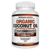 Organic-Coconut-Oil-2000mg-100-EXTRA-VIRGIN-Cold-Pressed-for-Weight-Loss-Skin-Hair-Nails-120-Softgel-Capsules-BioScience-Nutrition
