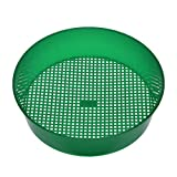 Plastic Garden Sieve Riddle Green for Compost Soil Stone Mesh Gardening Tool for Garden Bonsai 20.8 ×18.4× 5.3cm