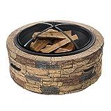 "stone fire pit Sun Joe SJFP28-STN-CL Fire Joe 28"" Classic Stone Fire Pit"