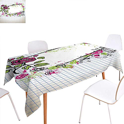 able Cloth Original Sketch of The Banner Kitchen Dinning Tabletop Decoration 60