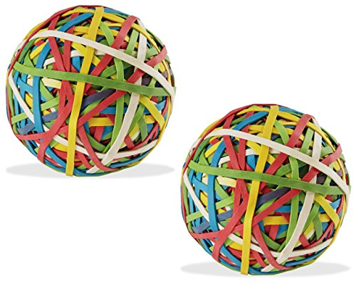 Assorted Color Rubber Band Ball (135 gm x 2) for DIY, Arts & Crafts, Document Organizing - Pack of 2 by Yosogo