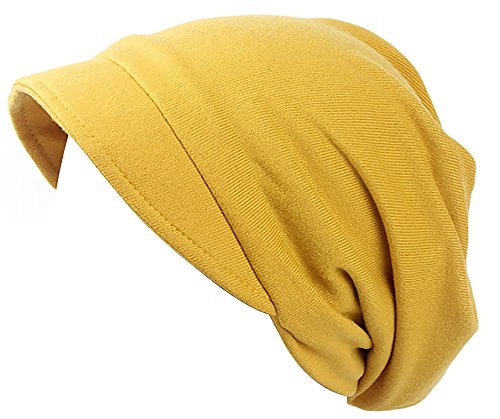 Ababalaya Women's Soft Adjustable Cashmere Wool Blend Newsboy Cabbie Cap Chemo Beanie,Yellow