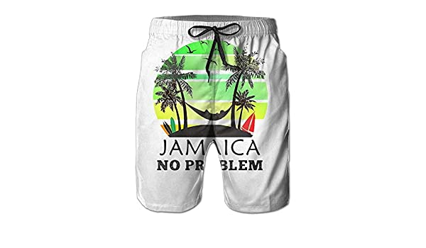 QQMIMIG Mens Quick Dry Rasta Lion Raggae Beach Shorts Swim Trunks Surf Board Shorts