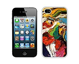 iphone 5 5s Case, iphone 5 5s Case, Colorful Hybrid With Dot Case Cover Protector For iphone 5 5s Abstract Painting iphone 5 5s Cases White Cover