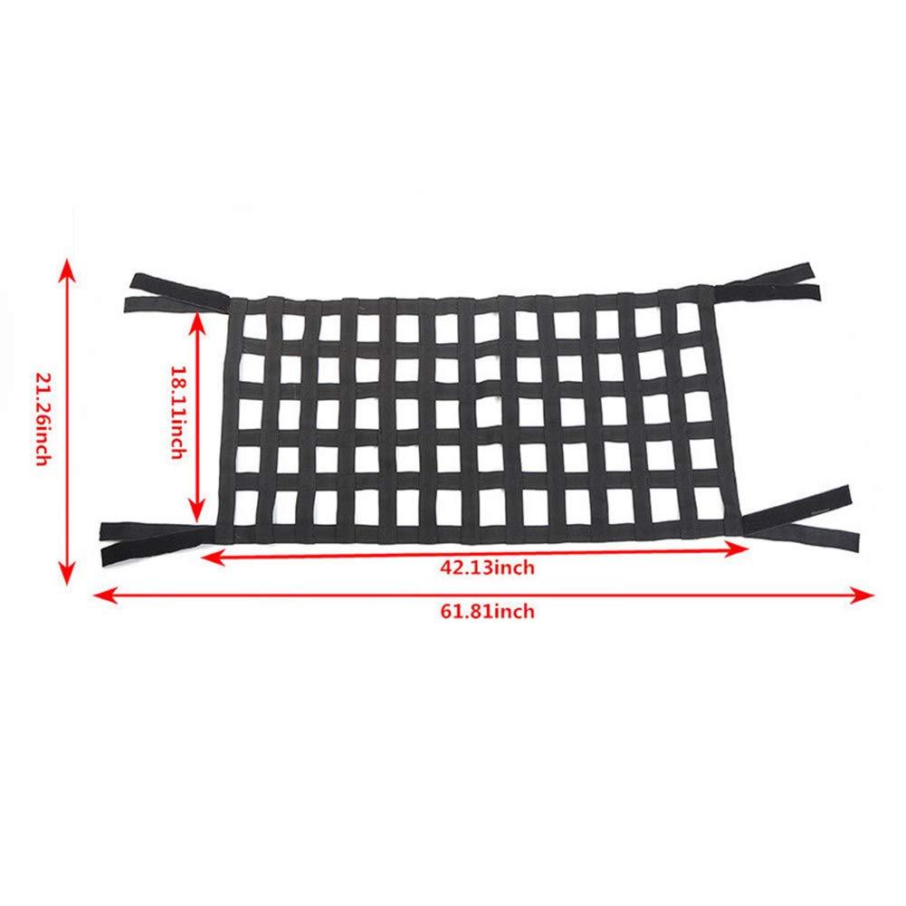 negro resistente Hamaca de techo para Jeep Wrangler JK 07 para almacenamiento de techo barra de barra 18 de carga