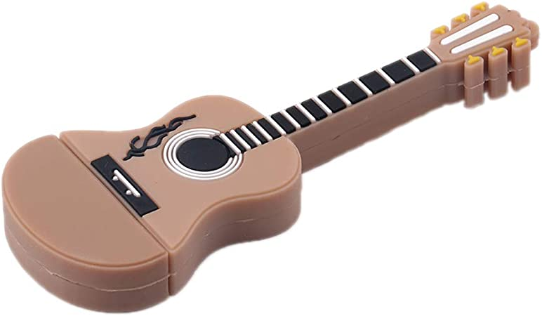 Scrox 1X USB Tipo c 2.0 Micro Memory Stick U Disk Mini Flash Drive Pendrive Portátil Memoria USB,Forma de Guitarra,Recuerdo (Marrón 2GB): Amazon.es: Hogar